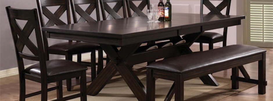 Havana dining room table with bench