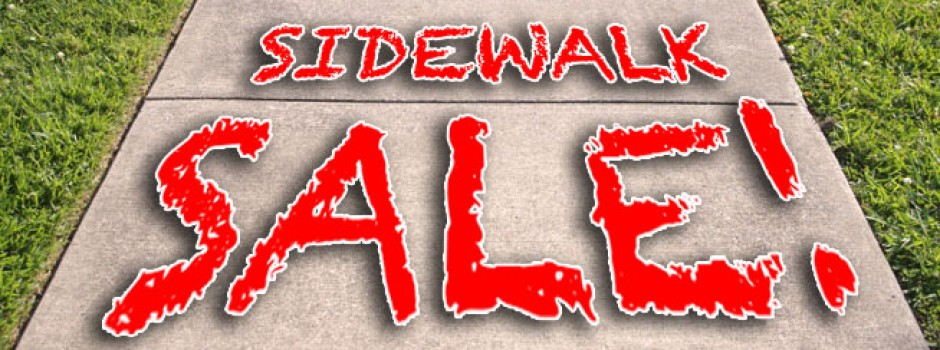 Utica sidewalk sale