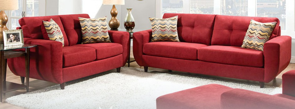 Killington Cayenne Sofa and Loveseat