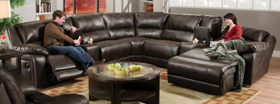 Blackjack Cocoa Reclining Sectional