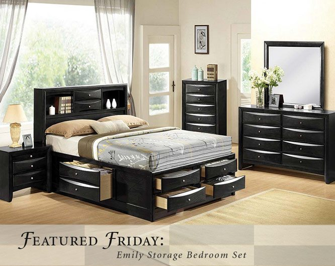 Featured Furniture Emily Storage Bedroom Set