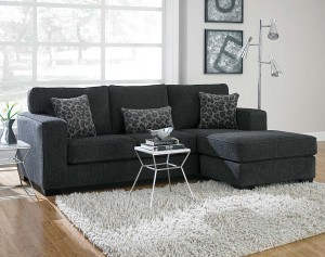Charcoal Gray Flyer Sectional