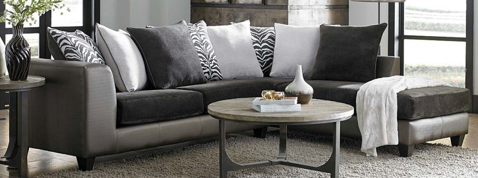 Shimmer Magnetite 2 Piece Sectional Sofa