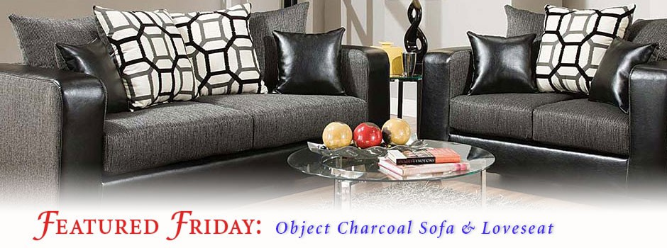 Object Charcoal Sofa and Loveseat