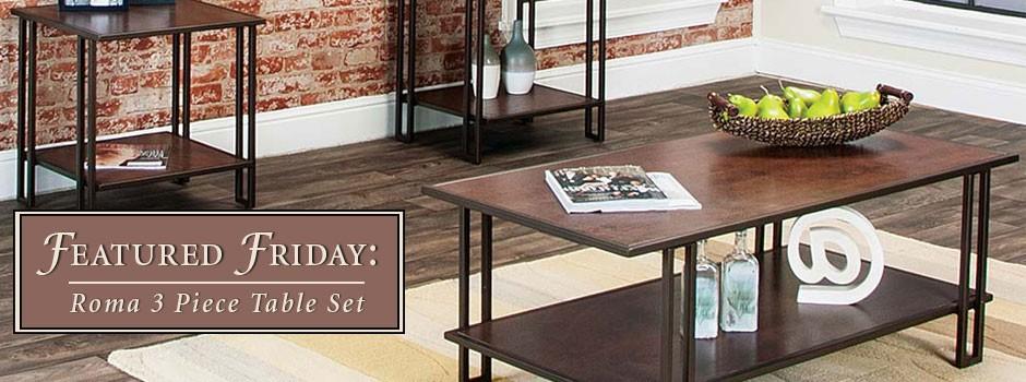 Roma 3 Piece Table Set