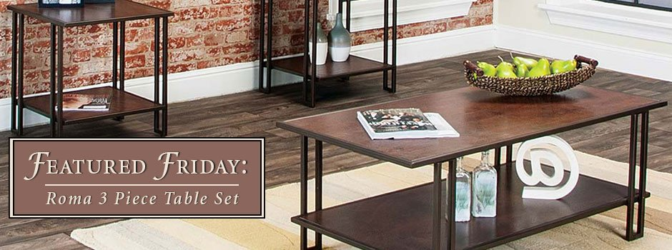 Featured Furniture Roma Three Piece Table Set