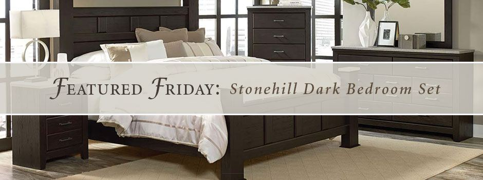 Featured furniture stonehill dark bedroom set for American freight bedroom furniture