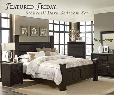 featured furniture stonehill dark bedroom set