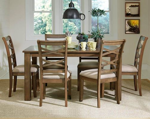 Tuesday teaser redondo driftwood 7 piece dinette set for American freight 7 piece living room set