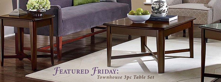 Townhouse 3 Piece Table Set