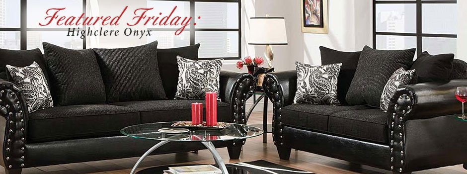 Featured Furniture Highclere Onyx Sofa And Loveseat