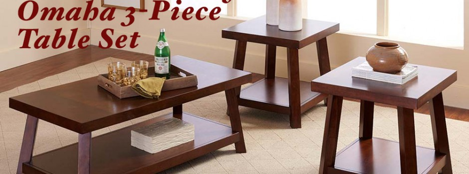 Omaha 3 Piece Table Set