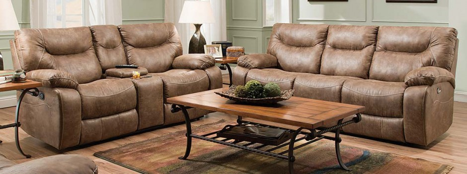 Topgun Saddle Reclining Sofa & Loveseat