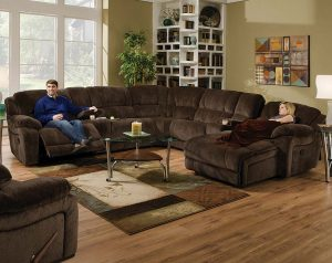 Championship Chocolate Reclining Sectional