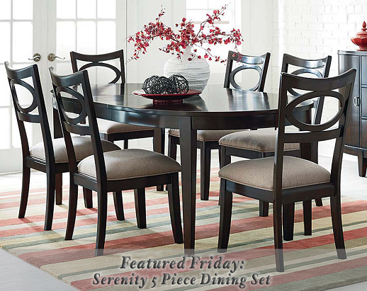Featured friday serenity 5 piece dining set american freight furniture blog for American freight 7 piece living room set