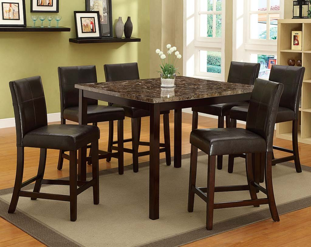 Pompei 5 Piece Counter Height Dining Set