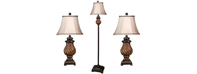 Toffee Wood Bronze 3 Lamp Multi-Pack