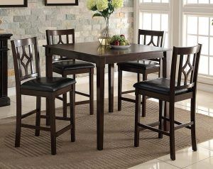 Leon 5 Piece Counter Height Dining Set