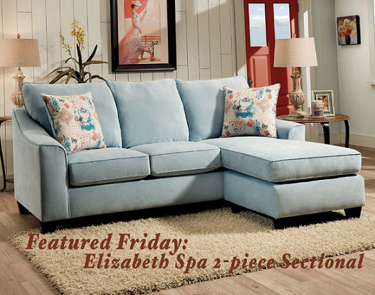 Featured Friday: Elizabeth Spa Two Piece Sectional Sofa | American ...
