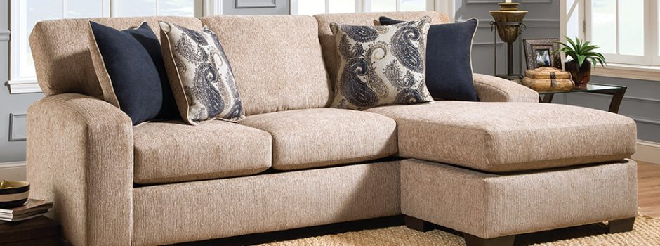 Uptown Almond Sectional Sofa