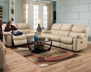 Searider Hazelnut Reclining Sofa & Loveseat