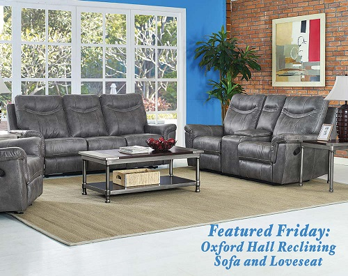 Oxford Hall Reclining Sofa and Loveseat