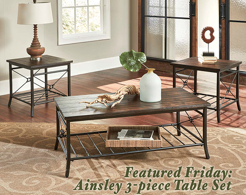 Ainsley 3 Piece Table Set
