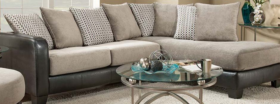 Fusion Platinum Sectional Sofa