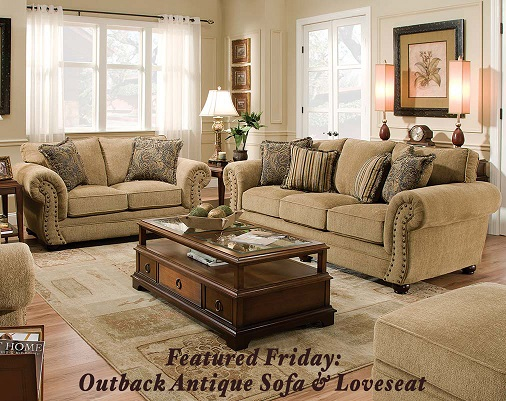 Featured Friday: Outback Antique Sofa and Loveseat