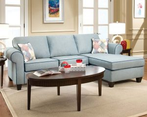 Decade Aqua 2 PC. Sectional Sofa