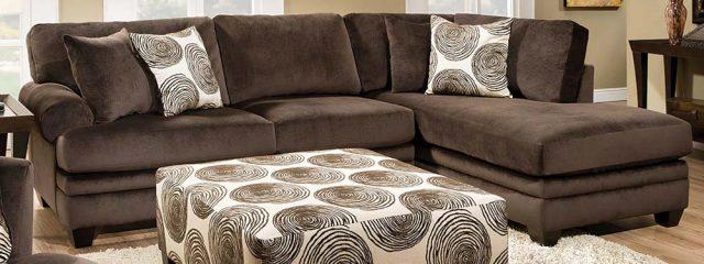 Groovy Chocolate 2 Piece Sectional Sofa