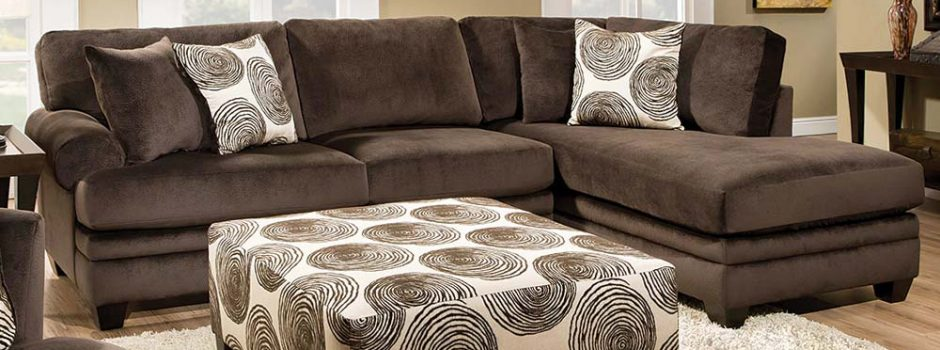 Groovy Chocolate 2 Piece Sectional Sofa