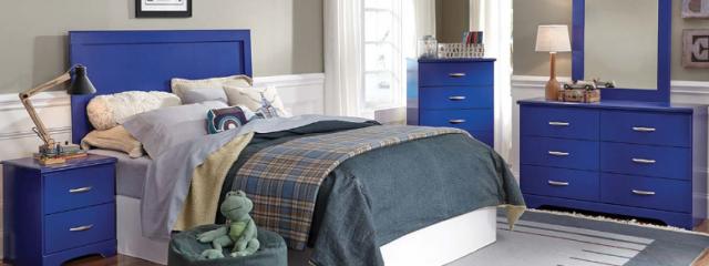 Leo Blue Bedroom Set