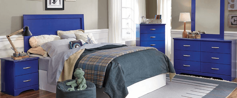 featured friday leo blue bedroom set american freight