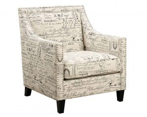 Erica Script Accent Chair