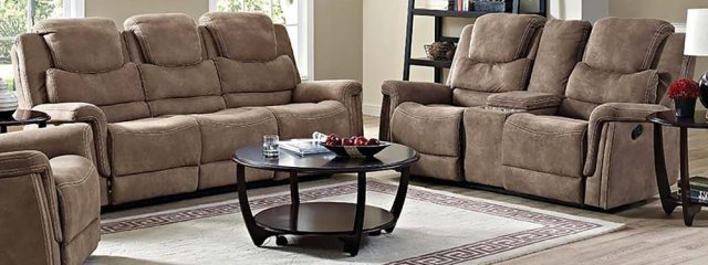Glen Haven Reclining Sofa and Loveseat