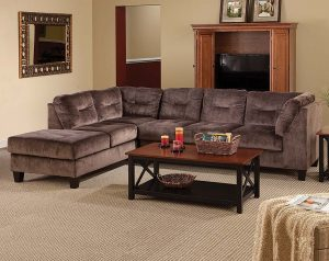Olympian Chocolate 2 PC. Sectional Sofa