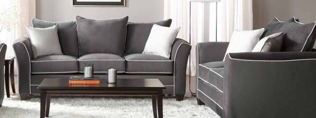Bing Ash Sofa and Loveseat