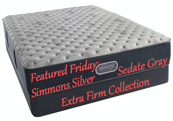 Featured Friday: Simmons Silver Sedate Gray Extra Firm Collection
