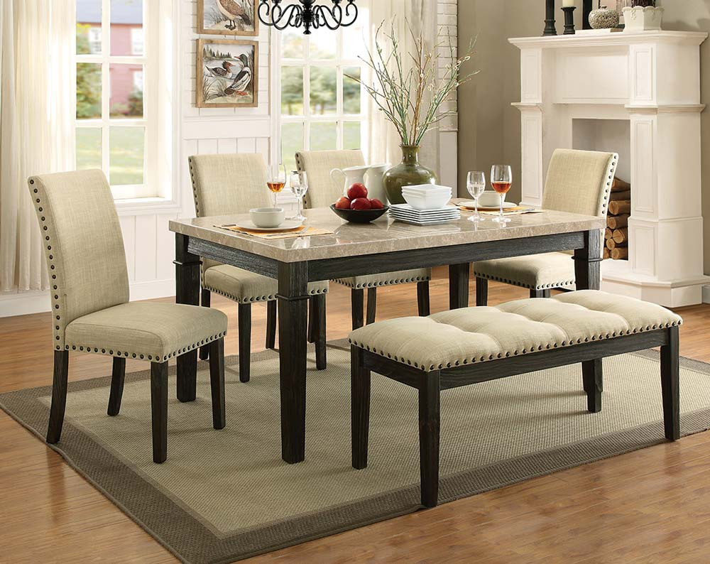 Greystone Marble 5 Piece Dining Set
