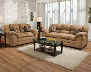 sierra camel sofa and loveseat