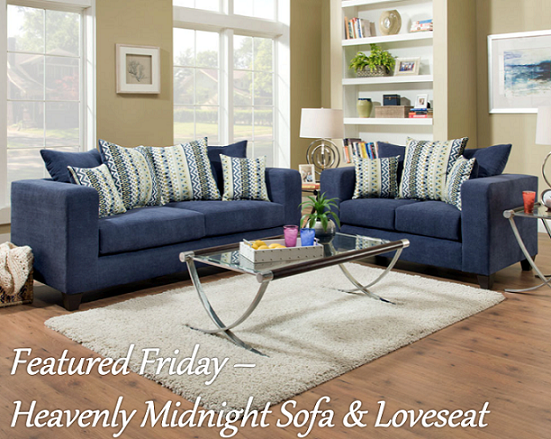 Heavenly Midnight Sofa & Loveseat