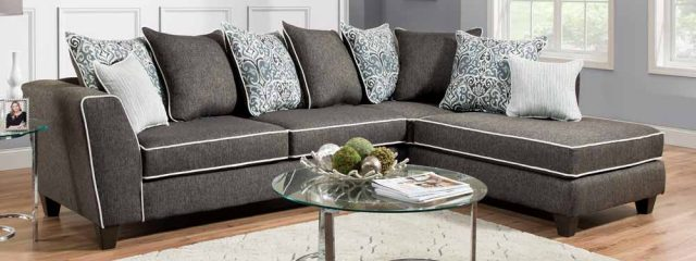 Vivid Onyx Sectional Sofa