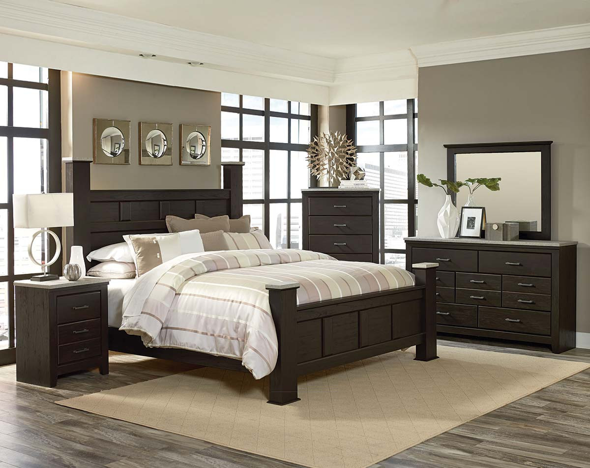 Stonehill Dark Bedroom Set