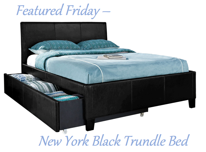 New York Black Trundle Bed