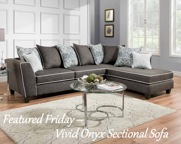 Featured Friday-Vivid Onyx Sectional Sofa
