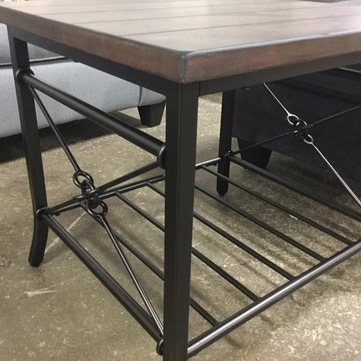 Tuesday Teaser: Rustic Wood Grain Coffee Table Set