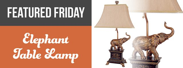 American Freight Elephant Table Lamp