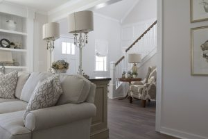 Living Room with White Color Scheme