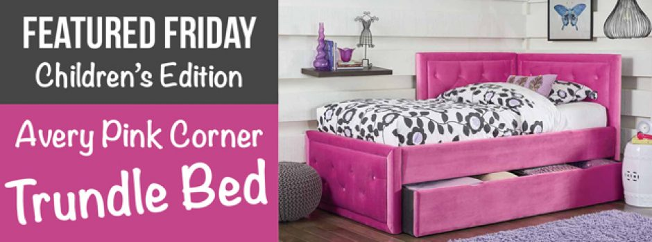 American Freight Pink Corner Trundle Bed